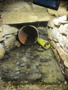 30cm Rohr mit Drainage