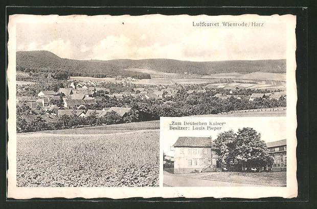 AK-Wienrode-Hotel-Zum-Deutschen-Kaiser-Ortsansicht
