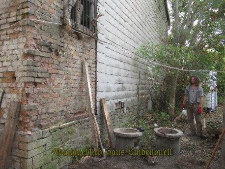 der Platz wird für die Wassertanks vorbereitet