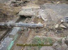Gasleitung mit Stahlschutz
